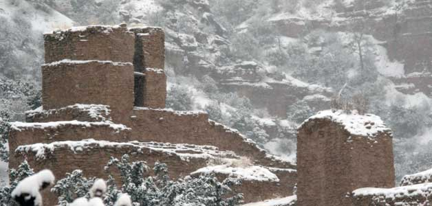 Snow on Jemez Monument
